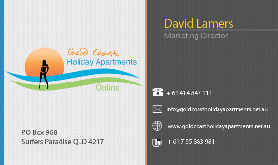 Business cards gold coast holiday apartments online business card front gold coast holiday apartments online business card front businesscardaessideaweb reheart Choice Image